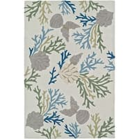 ADDISON Beaches Coral Shells Pearl/Multi Area Rug  (9'X13')