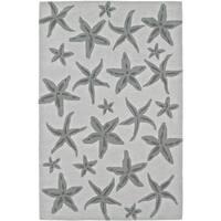 "ADDISON Beaches Starfish Pearl/Taupe Area Rug  (3'6""X5'6"")"