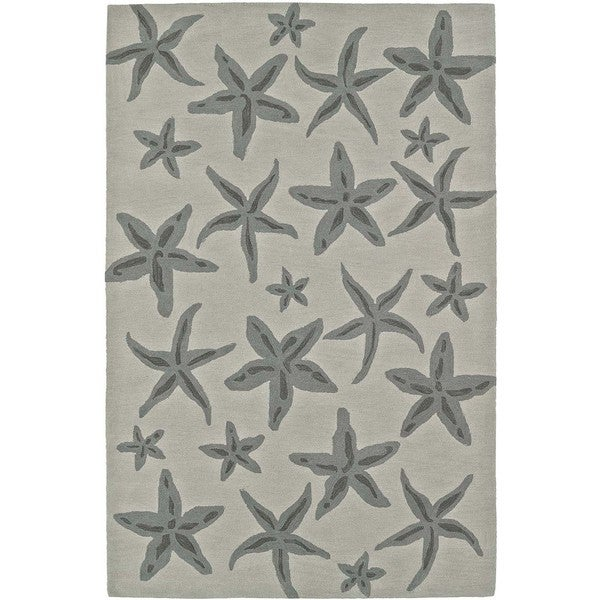 Addison Rugs Beaches Starfish Pearl/ Taupe Area Rug - 8' x 10'