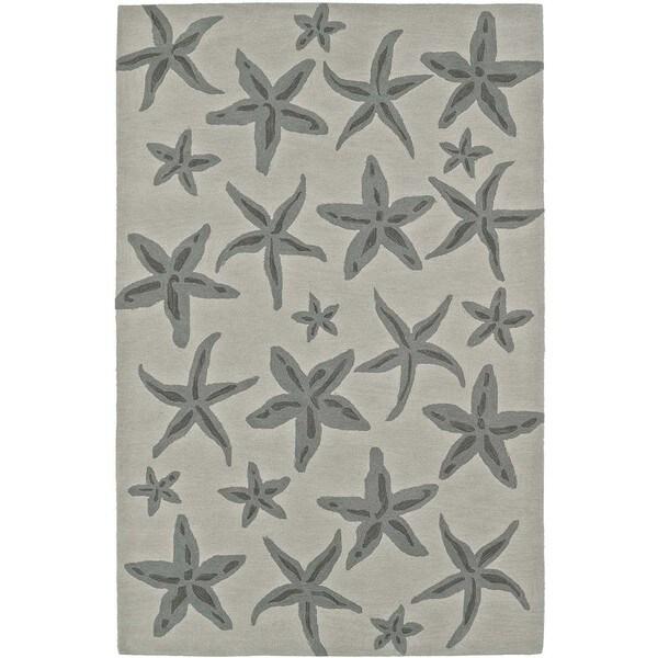 ADDISON Beaches Starfish Pearl/Taupe Area Rug - 9' X 13'