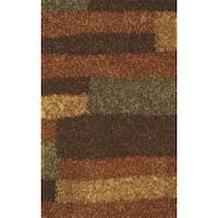 Addison Miramar Russet/ Multicolor Color Block Shag Area Rug (8' x 10')