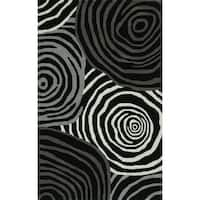 Addison Zenith Night/Grey Wool Bold Geometric Area Rug - 8' x 10'