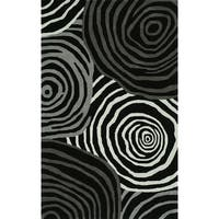 "ADDISON Zenith Bold Geometric Night/Grays Area Rug  (3'6""X5'6"")"
