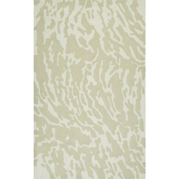 Addison Rugs Zenith Subtle Nebulous Oyster/Ivory Wool and Viscose Area Rug