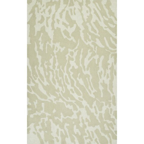 Addison Rugs Zenith Subtle Nebulous Oyster/Ivory Wool and Viscose Area Rug