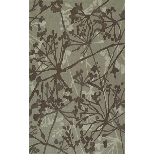 Shop ADDISON Zenith Contemporary Floral Brown/Ivory Area