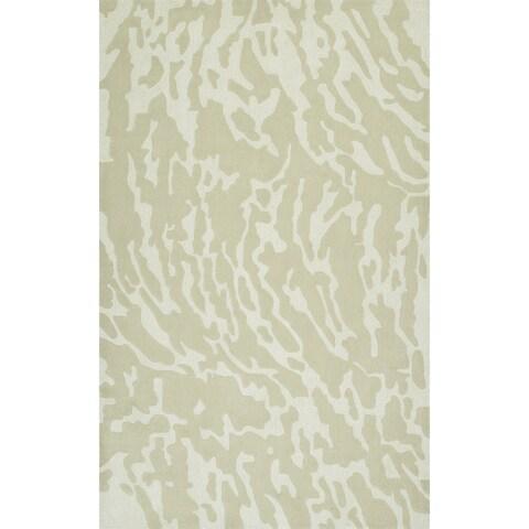 """ADDISON Zenith Subtle Nebulous Oyster/Ivory Area Rug (3'6""""X5'6"""")"""