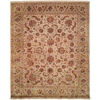 "Tabernacle Ivory Wool and Silk Hand-knotted Area Rug (2'6 x 10') - 2'6"" x 10'"