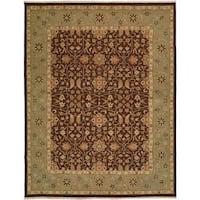 Sierra Brown/Ivory/Rust Wool Soumak Area Rug (2'6 x 10')