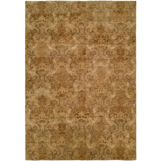 "Royal Manner Derbyshire/Green Wool Hand-knotted Runner Rug (2'6 x 10') - 2'6"" x 10'"