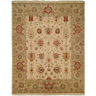 Pasha Ivory/ Camel Hand-knotted Area Rug (2'6 x 10')