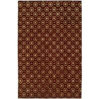 "Gramercy Red Wool Viscose Hand-knotted Area Rug - 2'6"" x 10'"
