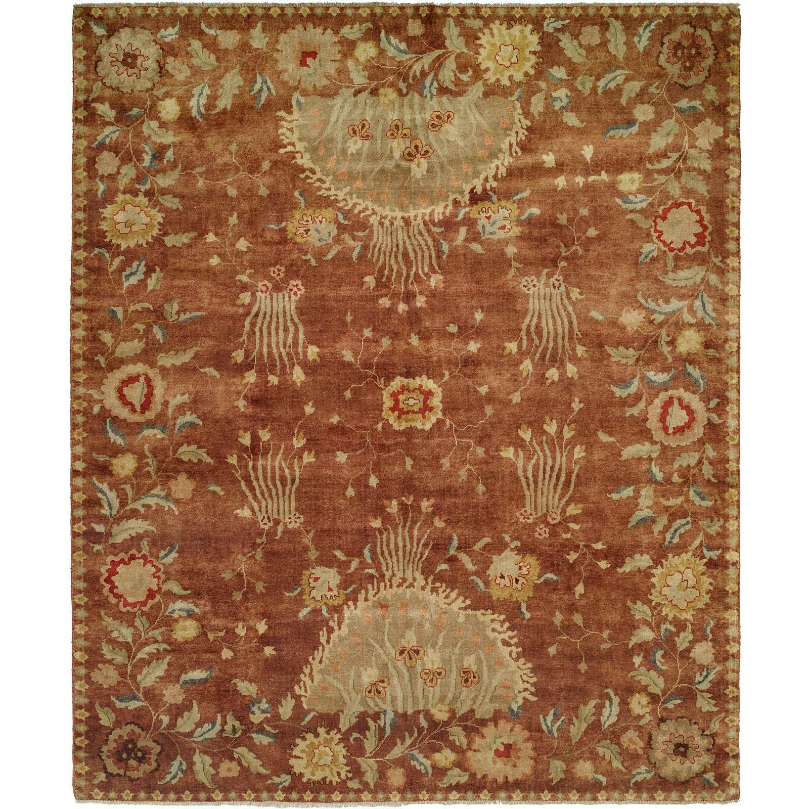 Carol Bolton Rodewood Reverie Red Hand Knotted Wool Area Rug Overstock 18798102 Red 2 6 X 10