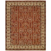 Allegro Spice/Beige Wool Hand-knotted Area Rug (2'6 x 10')