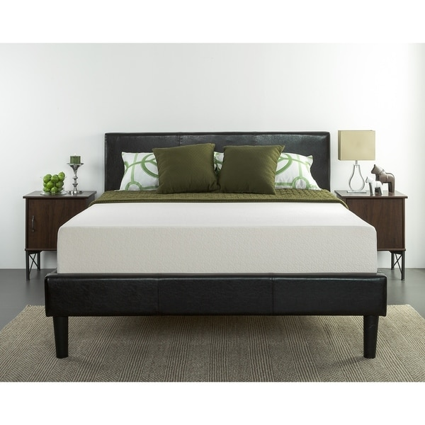shop priage by zinus 10 inch green tea full size memory foam mattress free shipping today. Black Bedroom Furniture Sets. Home Design Ideas