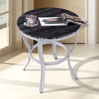 Sleeplanner Black Natural Marble Classic Accent Round Table