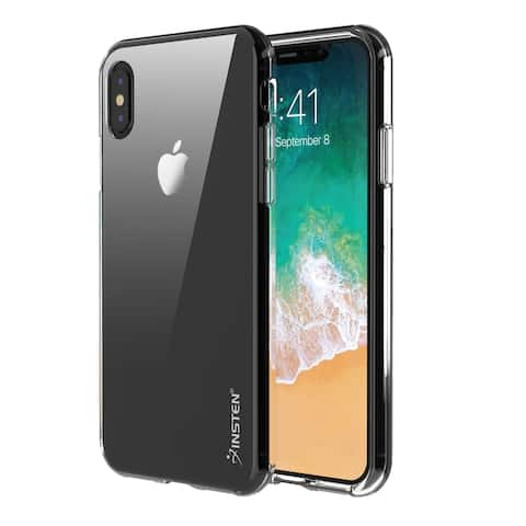 3b2b482ee23134 Insten Clear TPU Rubber Phone Case Cover For Apple iPhone XS/ iPhone X 5.8