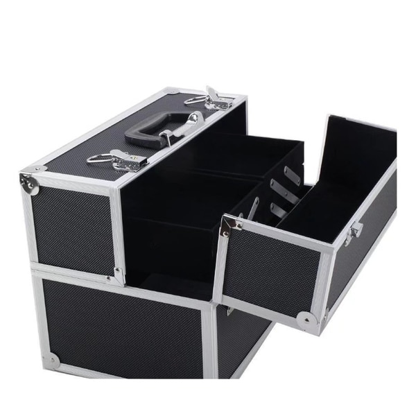 Shop Black Makeup Case Aluminum Train Case Jewelry Box Cosmetic