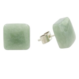Handmade Sterling Silver 'Simply Luxurious' Jade Earrings (Guatemala)