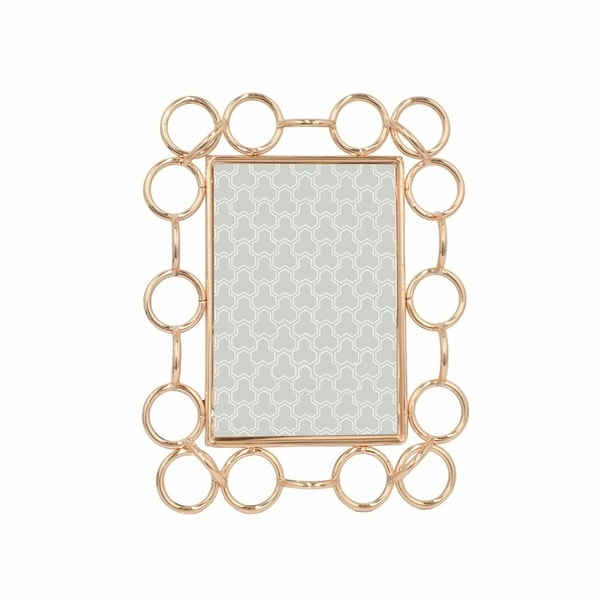 "Stylish Metal Photo Frame 4 X 6""- Copper- Benzara"