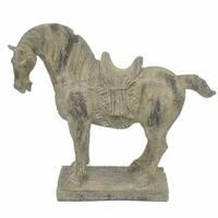 Resin Horse  - Antique Finish - Benzara