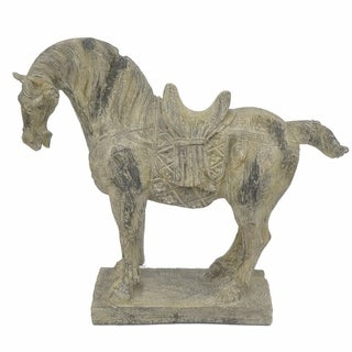 Resin Horse - Antique Finish - Benzara