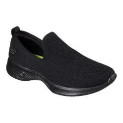 Women's Skechers GOwalk 4 Gifted Slip-On Walking Shoe Black/Black