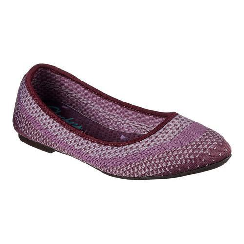 skechers ballet flats purple