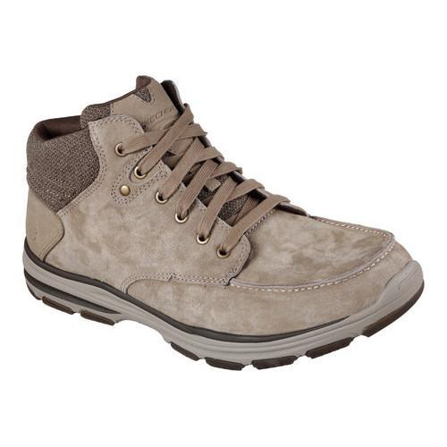Shop Men S Skechers Garton Meleno Boot Tan Pigskin Suede Free