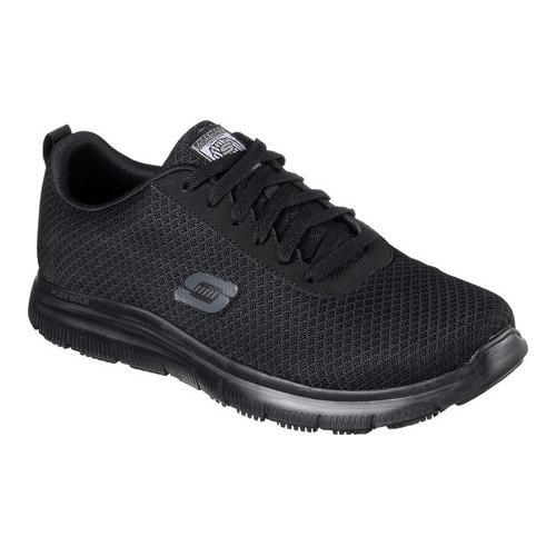 Skechers for Work Men's Flex Advantage Bendon Wide Work Shoe, Black, 7.5 W US