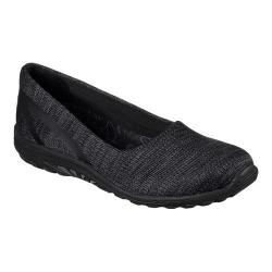 Women's Skechers Relaxed Fit Reggae Fest Dread Knit Slip-On Black - Thumbnail 0