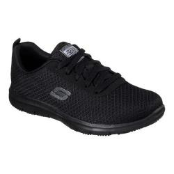 Women's Skechers Work Relaxed Fit Ghenter Bronaugh SR Sneaker Black