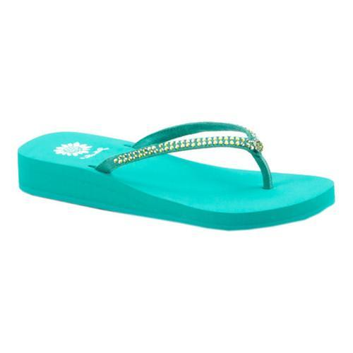 352ff22e6d2ced Shop Women s Yellow Box Jello Sandal Teal - Free Shipping On Orders Over   45 - Overstock.com - 16386588