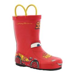 Children's Western Chief Lightning McQueen Rain Boot Red Rubber