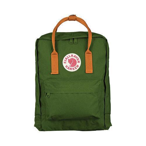 Fjallraven Kanken Backpack Leaf Green/Burnt Orange