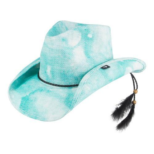 Peter Grimm Althea Straw (Brown) Hat Aqua (US One Size (H...