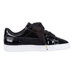 Women's PUMA Basket Heart Patent Sneaker PUMA Black/PUMA Black
