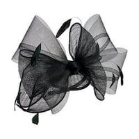 Women's San Diego Hat Company Bow Sinamay Fascinator DRS3555 Black