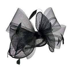 Women's San Diego Hat Company Bow Sinamay Fascinator DRS3555 Black