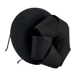 Women's San Diego Hat Company Wool Felt Fascinator with Bow DRS3556 Black