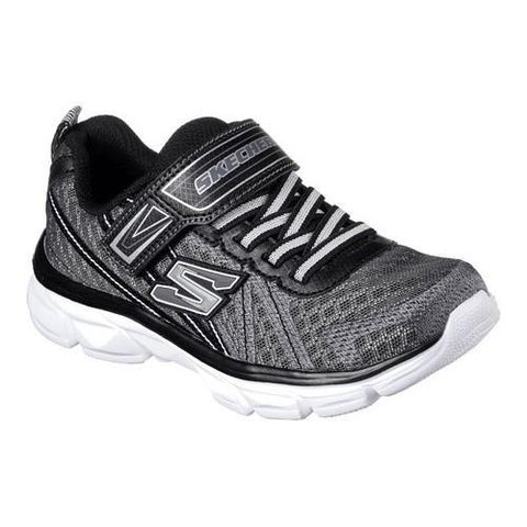 Boys' Skechers Advance Adjustable Strap Sneaker Charcoal/Black