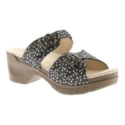 Women's Sanita Clogs Debora Sandal Black Paisley