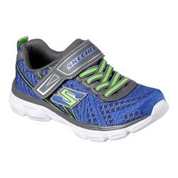 Boys' Skechers Advance Adjustable Strap Sneaker Blue/Gray