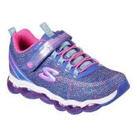 Girls' Skechers S Lights Air Lites Sneaker Blue/Neon Pink