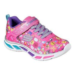 Girls' Skechers S Lights Litebeams Feelin It Sneaker Neon Pink/Multi