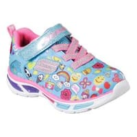 Girls' Skechers S Lights Litebeams Feelin It Sneaker Turquoise/Multi
