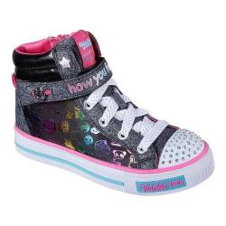 Girls' Skechers Twinkle Toes Shuffles Giggle Glam High Top Black/Multi