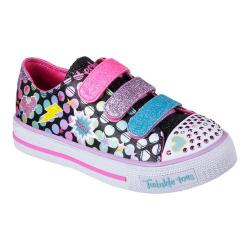 Girls' Skechers Twinkle Toes Shuffles Poppin Posse Sneaker Black/Multi