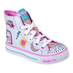 Girls' Skechers Twinkle Toes Shuffles Twist N Turns High Top Denim/Multi