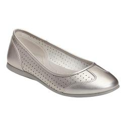 Women's A2 by Aerosoles Papaya Skimmer Silver Faux Leather